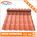 weathering resistance pvc sheet/color coated fire-resistant/asa synthetic resin tile