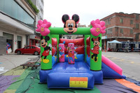 Top quality inflatable mickey and minnie bouncing castle with colorful artworking