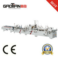 GDHH Alibaba Best Sellers Toilet Tissue Paper Box Making Machine With Lock Bottom