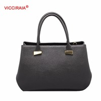 VICCIRAIA Fashion Black PU Lady Handbag Trade Assurance Wholesale
