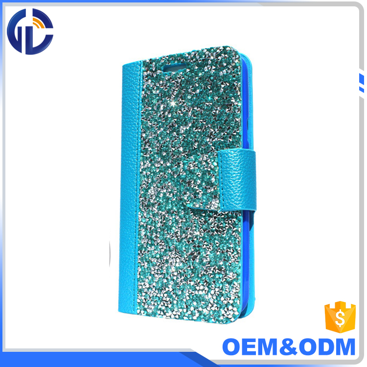 top selling products in alibaba cell phone diamond covercase vendor leather bling glitter case for iphone 7 6