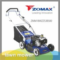Garden tool wholesale automatic self propelled 18inch petrol briggs and stratton engine lawn mower with gear box and swing blade