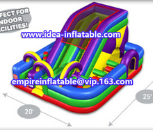 outdoor crazy inflatable obstacles combo bouncy castle ID-CB066