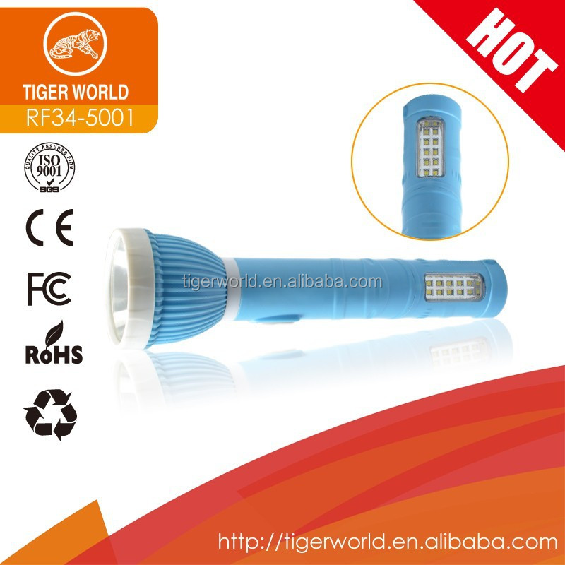 2015 branded TIGER WORLD led handbag torch light rechargeable flashlights and torches