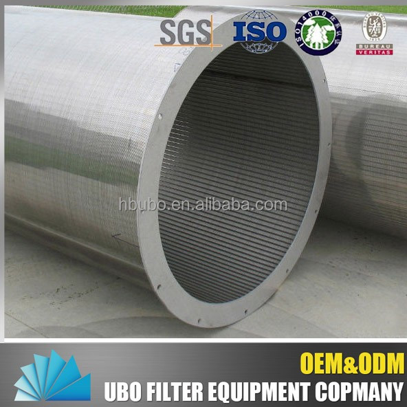 Corrosion resistance Johnson wedge wire stainless steel mesh filter screen