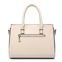 Unique Consise Design PU Leather Lady Hand Bag
