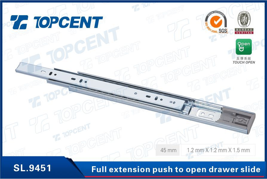 BEST PRICE & PROFESSIONAL SUPPLIER Kitchen Cabinet Hardware Full Extension telescope channel ball bearing drawer slides
