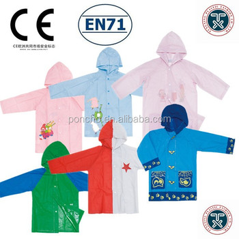 acute beautiful plastic rain poncho kids rain wear children raincoat