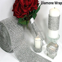 24 lines X10 yards strass band ,crystal sivler diamante strassband for wedding decoration