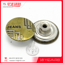 Factory price Newest mini upholstery metal buttons for dress