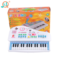 Special design 31 keyboard plastic musical piano toy with microphone
