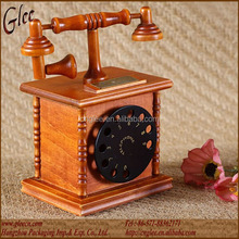 Classical Digital Telephone booth wooden music box