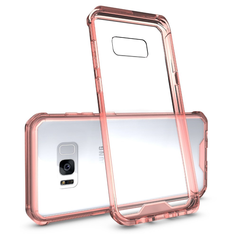 C&T Hard Back PC Cover Anti-scratch Reinforced Corner TPU Bumper Case for Galaxy S8 Plus