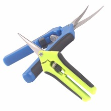 Garden Shears 1-Pcs Straight and 1-Pcs Curved Tip Trimming Scissors Hydroponic Pruner