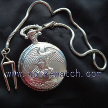 Manufacture sale fashion style cheap eagle pocket watch