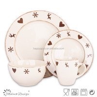 dinnerware set manufacturer in China,wholesale ceramic dinnerware set , christmas flower porcelain dinnerware set price