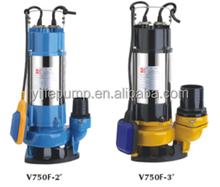 Electric drainage Submersible Sewage Pump V750-2''/V750-3''