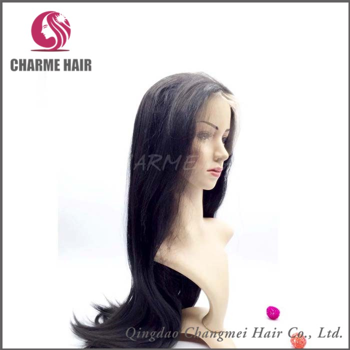 Hot sale long silky straight virgin human hair full lace wigs for young girls