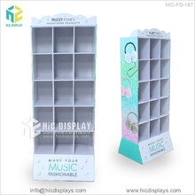 HIC electric battery pdq display rack, cardboard electronics showroom display