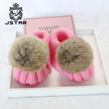 Handmade Soft bottom knit newborn boys and girl wool crochet baby shoes