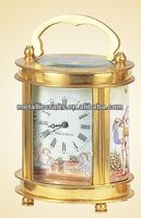 Little French Round Gilt Brass Cased Carriage Clock JGKY01A-2