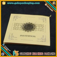 Manufacturer Luxury Wedding Design Printing Chinese Birthday Invitation Card
