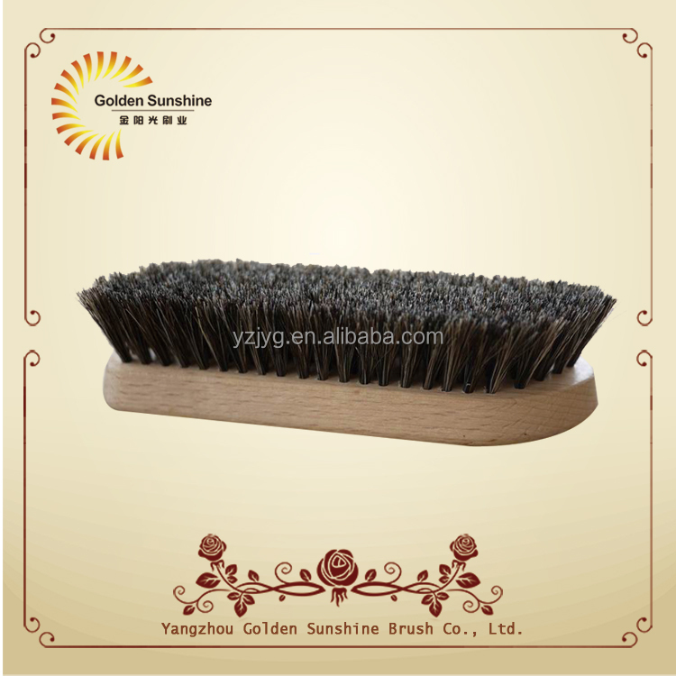 Hot selling new design wooden animal hair shoe brush with FSC beech wooden