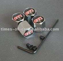 Metal valve cap with GTI logo with lock