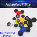 Ebay hot selling new design Customized Flash Word Logo Fidget with 608 bearing