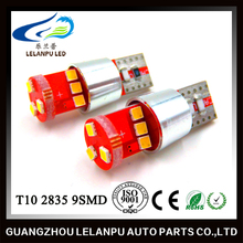 Hot Sale Auto Led lights bulb Canbus T10 2835 9SMD W5W 12V Car Led Decoration Light