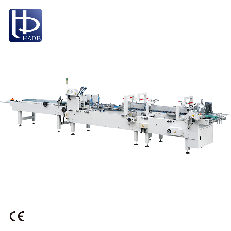 HADE March Expo Automatic Pasting Box Folder Gluer Machine With Good Quality