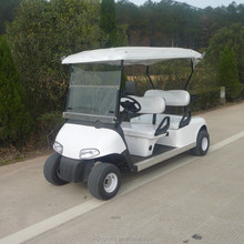 Chinese 4 seater golf cart powered by battery with white color and suitable price for sale