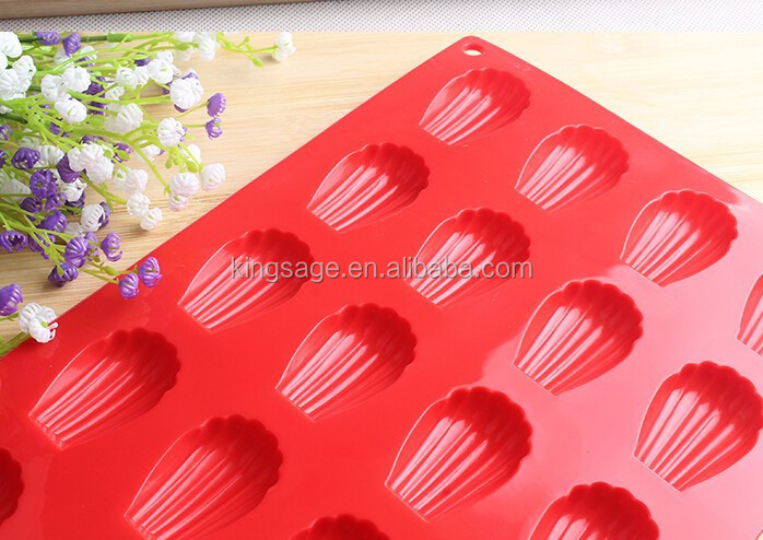 20 Cavity Shell shape Silicone Chocolate Mold Ice Cube Jello Fudge Mold Candy Mould