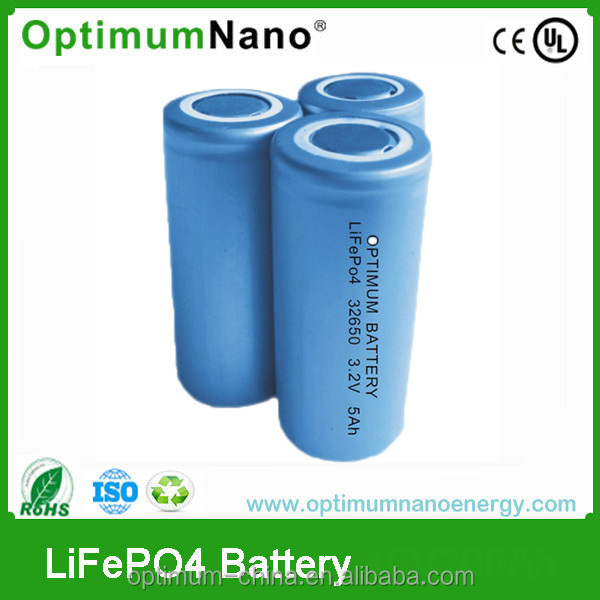 Flat Screw type 32650 3.2v 5ah rechargeable li-ion battery
