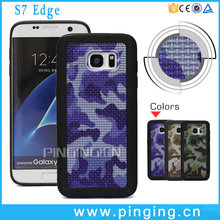 Fashion high quality 3D Army Colors Camouflage tpu mobile phone case for samsung galaxy s7 edge Armor Case