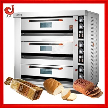 SS#430 stainless steel three layers six trays electric deck oven for small bakery