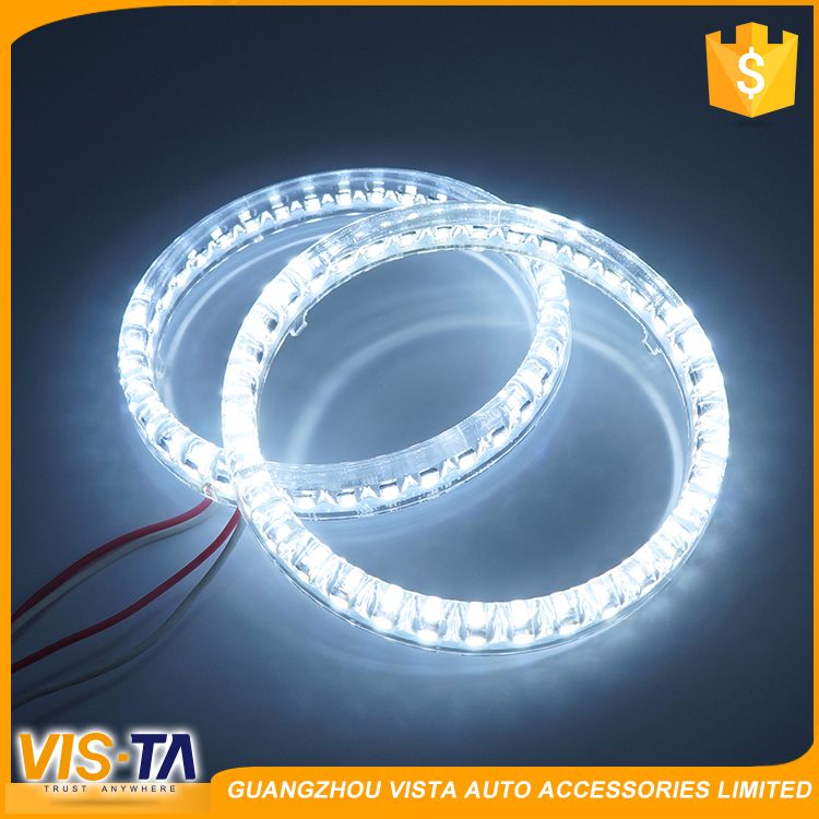 High quality long life H7 universal cars led light angel eyes headlights halo ring