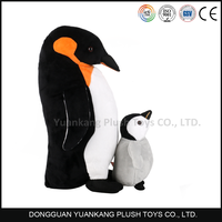 Mom and baby penguins soft plush toy for sale