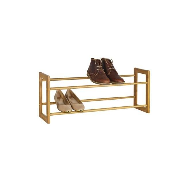 Extending & Stackable Wooden Shoe Rack For Sale