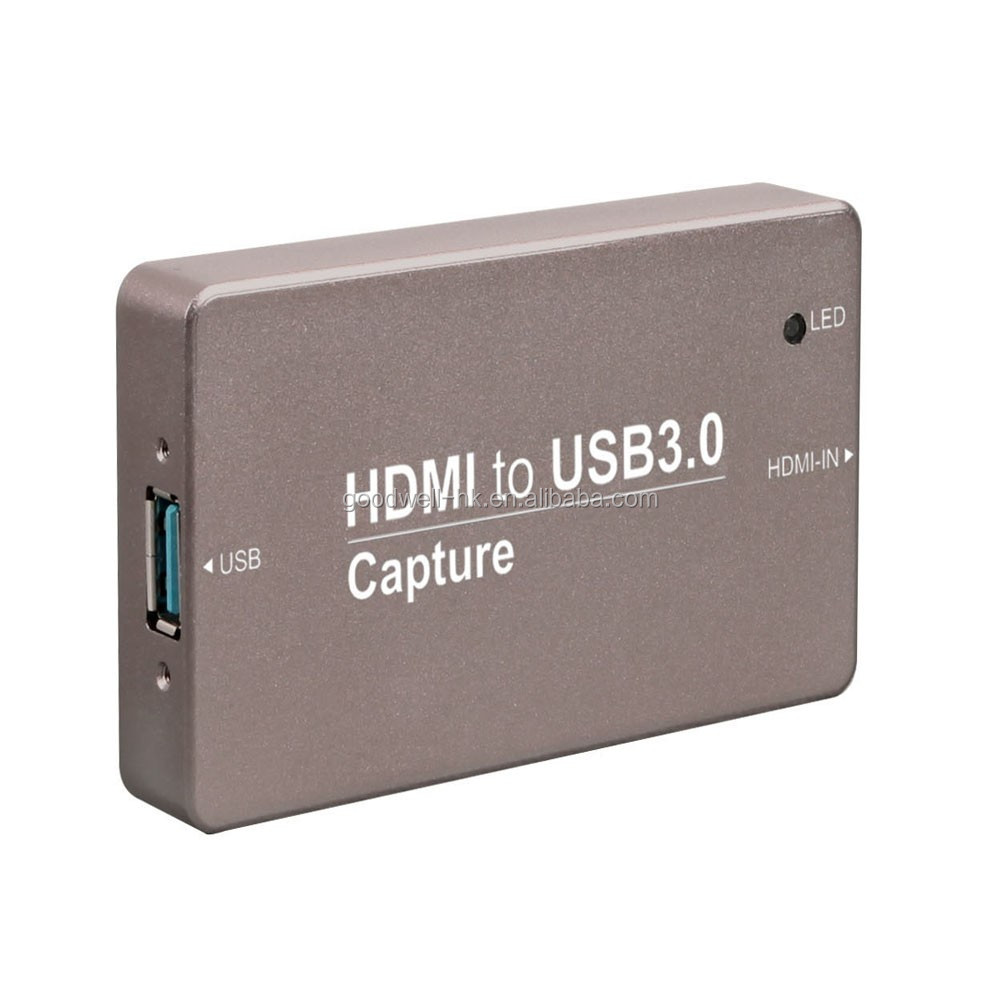 Trued plug and play device USB 3.0 HD Video Capture Card Metal Case