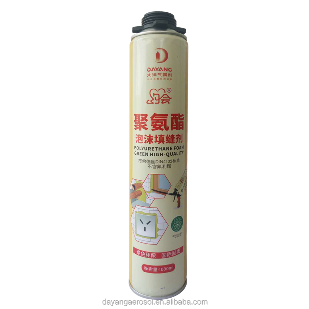 Water proof expanding polyurethane foam sealant for home decoration
