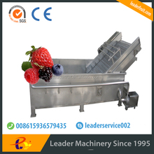 Leader showering fruit washer machine with spray device