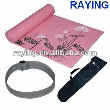 yoga mat set pvc yoga mat with packing/mesh bags