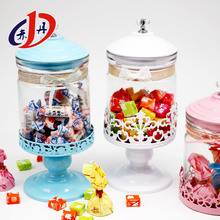 empty glass christmas european style crystal glass candy jar