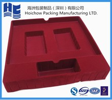 vacuum forming trays/plastic thermoformed trays/flocking packaging new design flocked jewelry packaging wholesale,gift jewelry