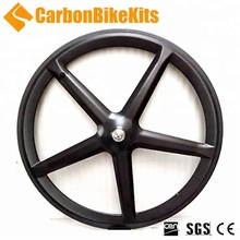 CBK 5SW 23mm wide 700c full carbon track/road carbon 5 spoke bicycle wheel