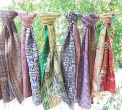 Vintage Handmade Kantha Scarves / Stoles / Duppatta / Shawls for Ladies