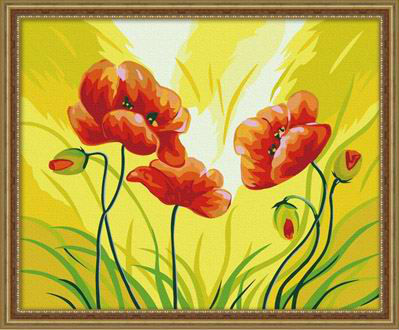 ew flower design Art Supplies - Canvas, Acrylic Paint,oil painting beginner kit