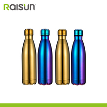 colorful double wall stainless steel coke sport water bottle on sale