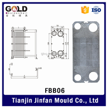 Sea Water Titanium Plate Heat Exchanger for Marine Engine
